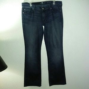 7 for all Mankind Jeans 32 Bootcut Stretch Dark